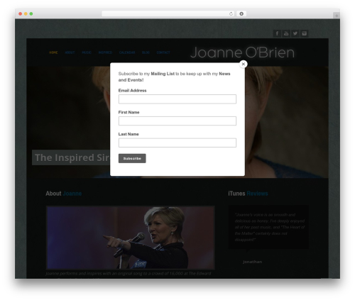 MusicPlay WordPress theme - theinspiredsiren.com