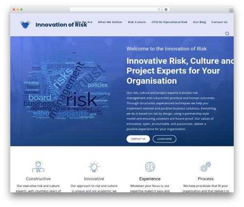 Newspaper WordPress theme - theinnovationofrisk.com