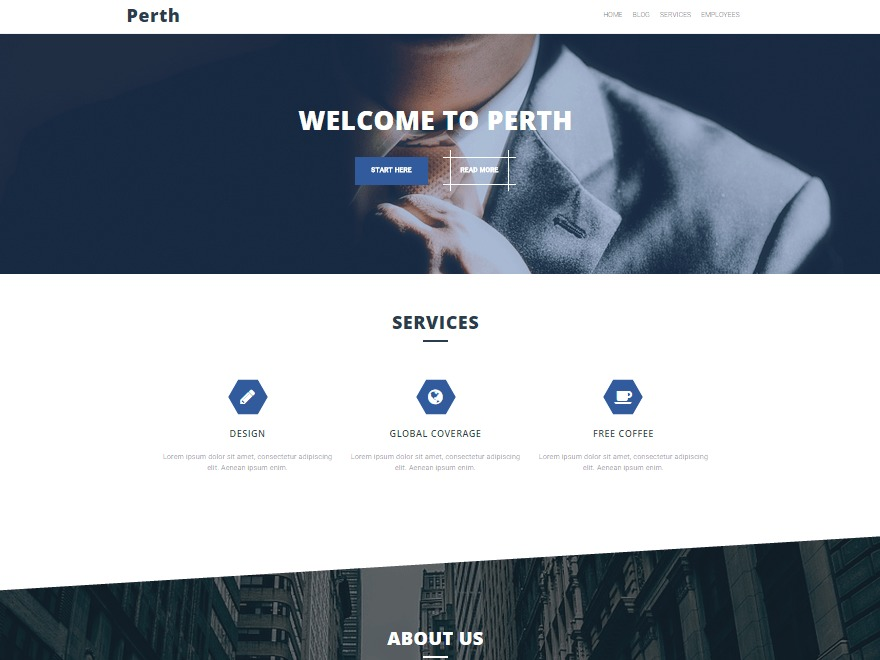 Perth Pro company WordPress theme