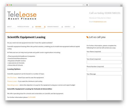 Salient template WordPress - telelease.com/scientific-equipment-leasing