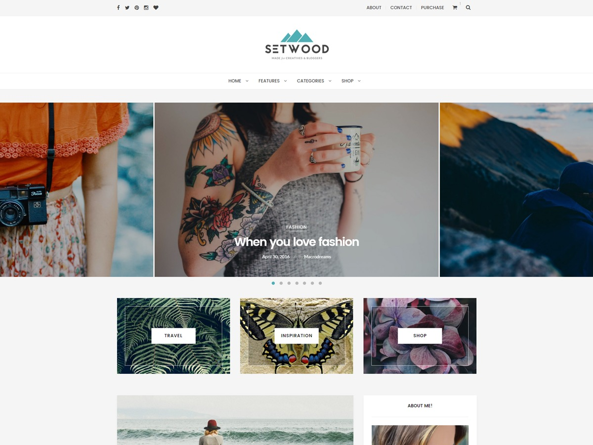 Setwood WordPress gallery theme