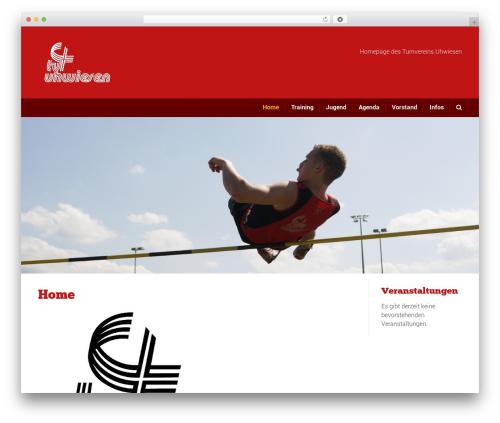 Sport WordPress theme design - tv-uhwiesen.ch