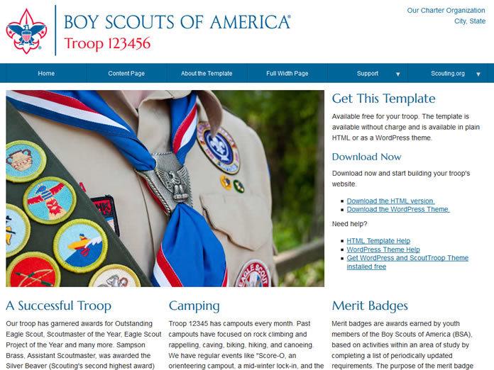 Template WordPress Scout Troop