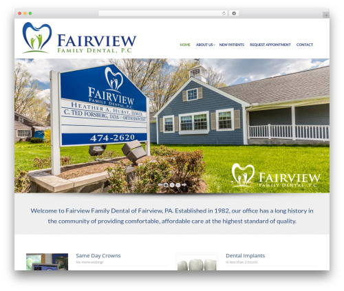 Theme WordPress Care - fairviewfamilydentalcare.com