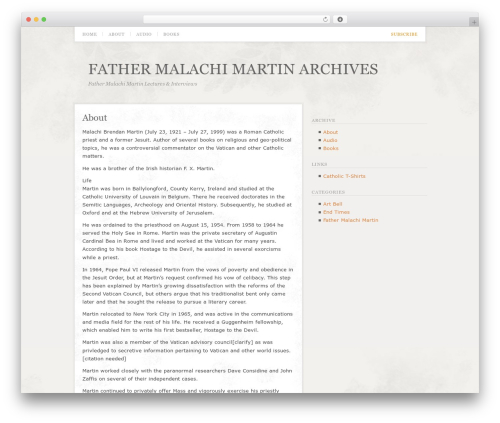 Tribune top WordPress theme - fathermalachimartin.com