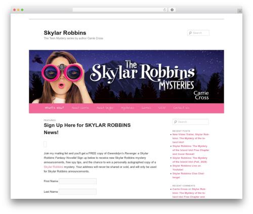 Twenty Eleven free WordPress theme - teenmysterypress.com