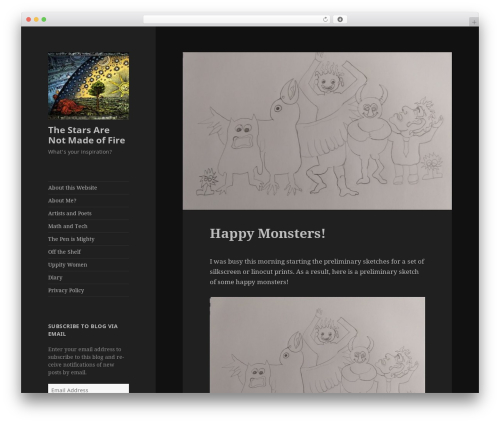 Twenty Fifteen free WordPress theme - thestarsarenotmadeoffire.com
