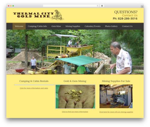 Vantage Premium free WordPress theme - thermalcitygoldmine.com