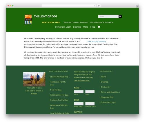 WordPress theme Avada - thelightofdog.com/love-dog-training