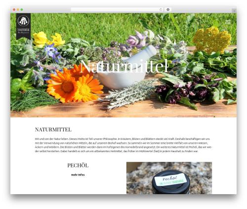 Free WordPress Menu Icons by ThemeIsle plugin - thauerboeck.com/bio-naturmittel
