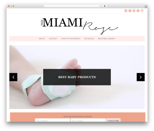 Free WordPress Instagram Feed plugin - themiamirose.com