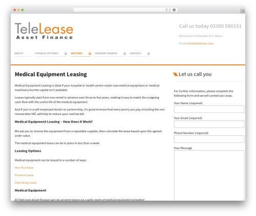 WP theme Salient - telelease.com/medical-equipment-leasing
