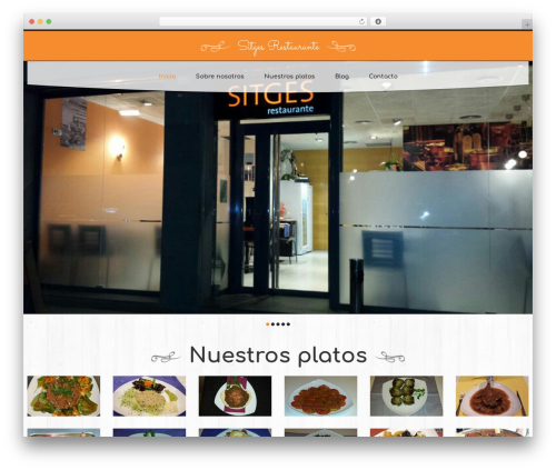 cherry WordPress restaurant theme - sitgesrestaurante.es