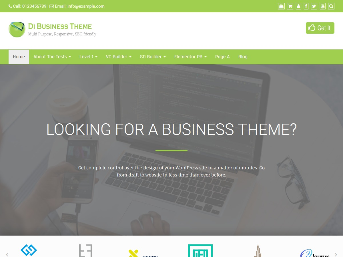Di Business Child WordPress shop theme