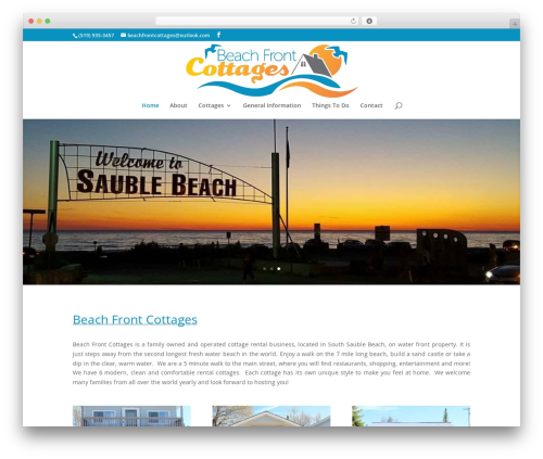 Divi theme WordPress - beachfrontcottages.net