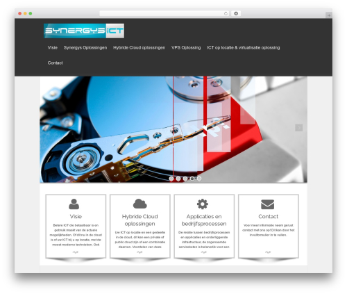 isis WordPress website template - synergys.nl