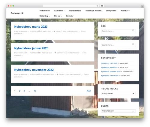 Responsive best free WordPress theme - soderup.dk