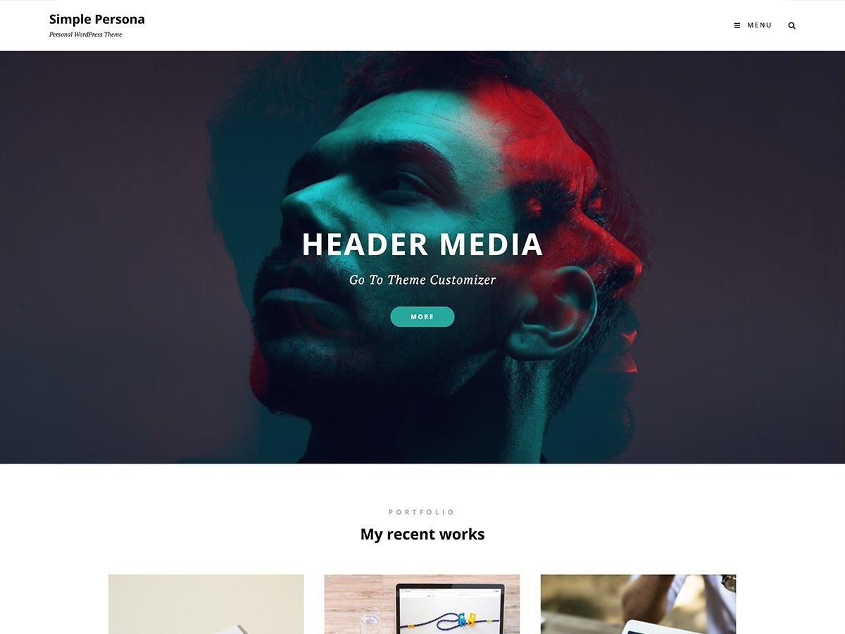 Simple Persona WordPress portfolio theme