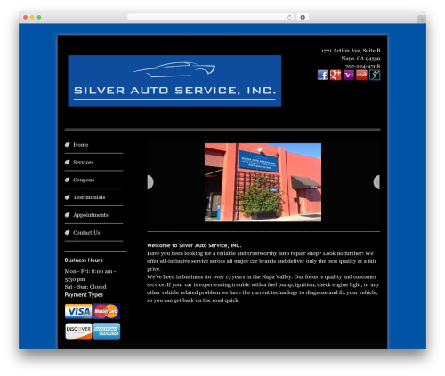 WordPress template Swiftray Pro Responsive Theme - silverautoservice.com