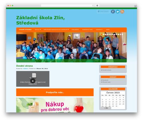WordPress website template D5 Socialia - skola-spc.cz