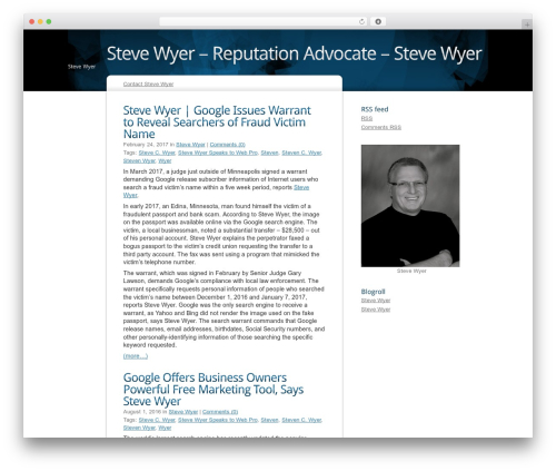 Free WordPress googleCards plugin - stevewyer.me
