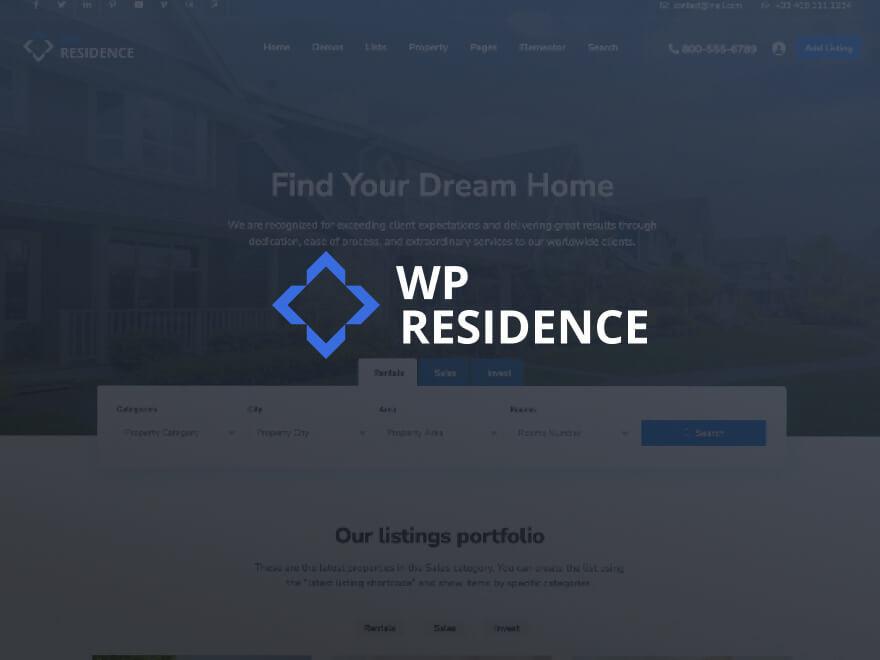 wpresidence company WordPress theme
