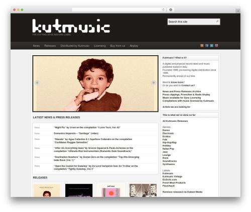 Arras WordPress theme - kutmusic.com
