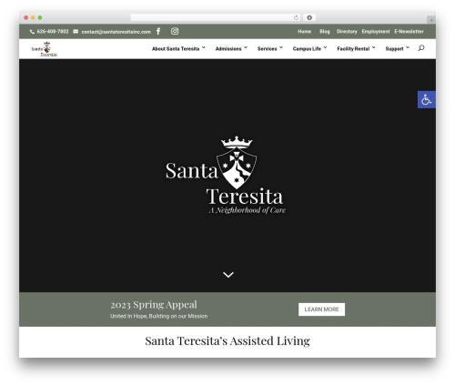 Divi WordPress theme - santa-teresita.org