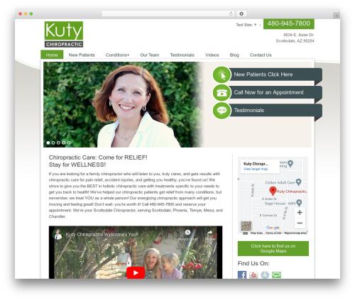 Ellen Mae best WordPress template - kutychiropractic.com