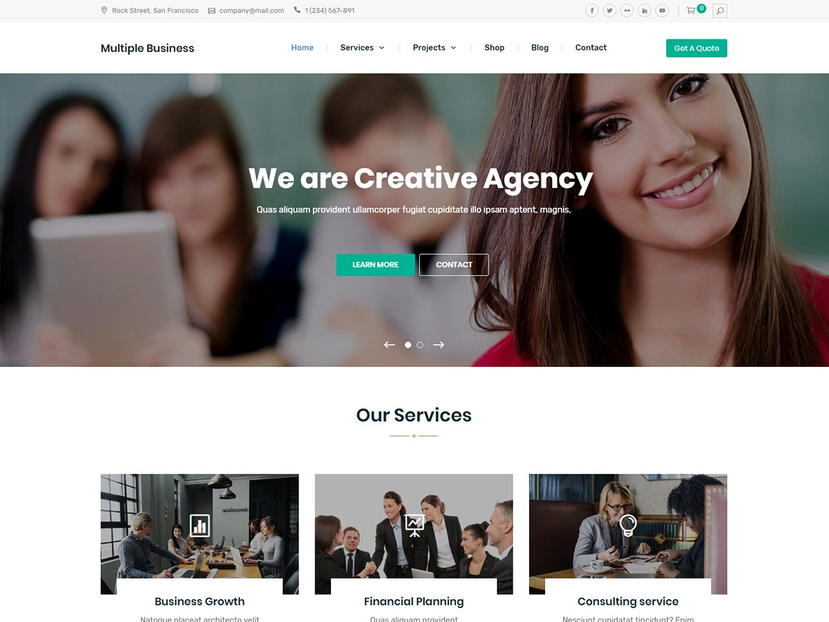 Multiple Business WordPress shopping theme