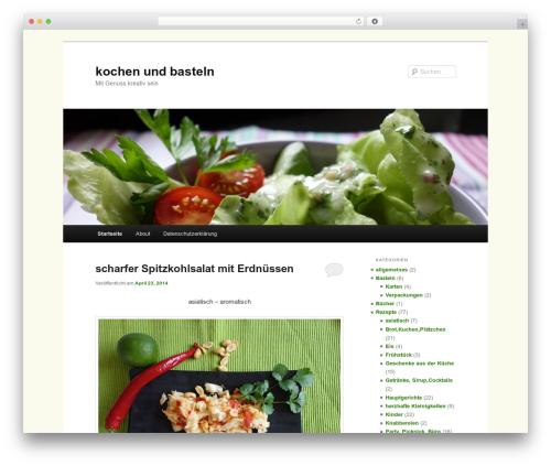 Twenty Eleven WordPress theme download - kochen-basteln.de