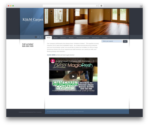 Celta Business company WordPress theme - kjmcarpet.com