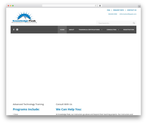 Charity Hub business WordPress theme - kpeak.com