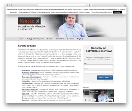 Clearly Modern business WordPress theme - kresso.pl