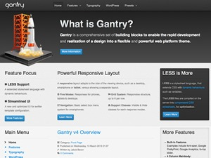 Best WordPress template Gantry Theme for WordPress