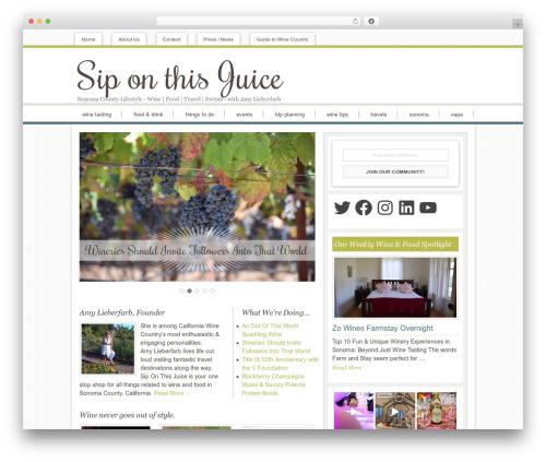 Innovative Child Theme WordPress theme - siponthisjuice.com