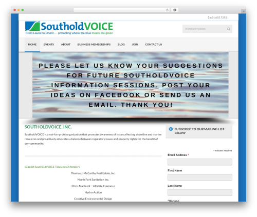 WordPress template Delicate - southoldvoice.com
