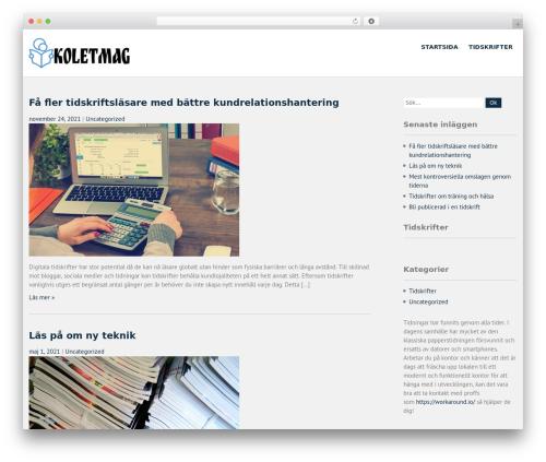 WordPress theme Campus Lite - koletmag.se