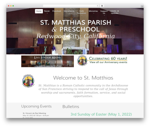 WP template St. Matthias - stmatthiasparish.org