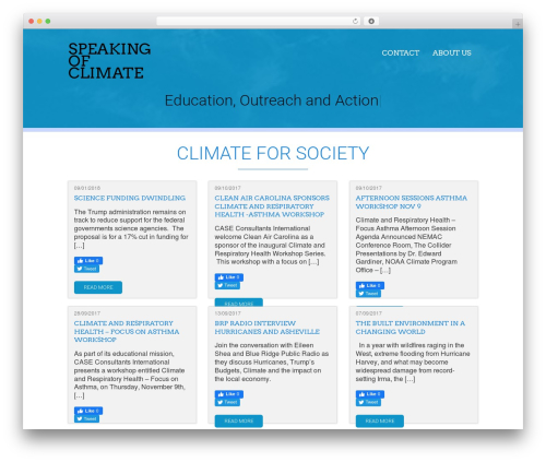 Acajou free WordPress theme - speakingofclimate.com