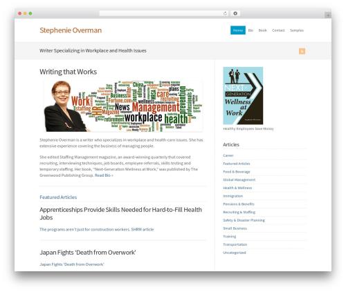 Best WordPress template WP-Brilliance - stephenieoverman.com