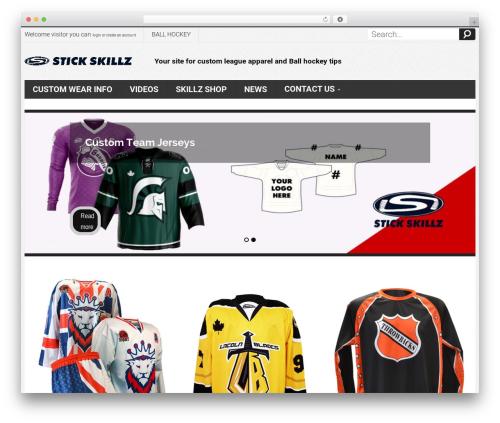 Mix Store WordPress ecommerce theme - stickskillz.com