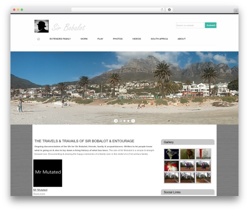 Modular WordPress travel theme - sirbobalot.com
