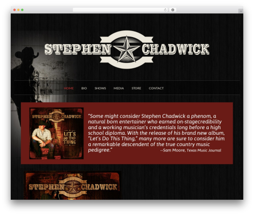 Spacious WordPress theme download - stephenchadwickmusic.com