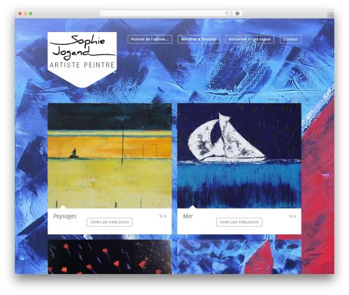 Wave WordPress theme design - sojogand.com