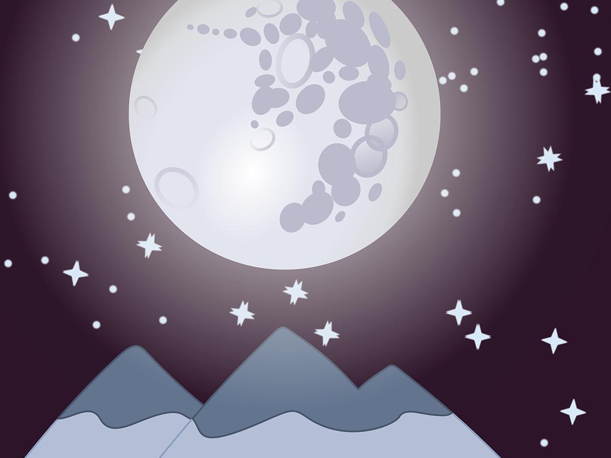 луна картинка рисунок опосредуется ощущение того