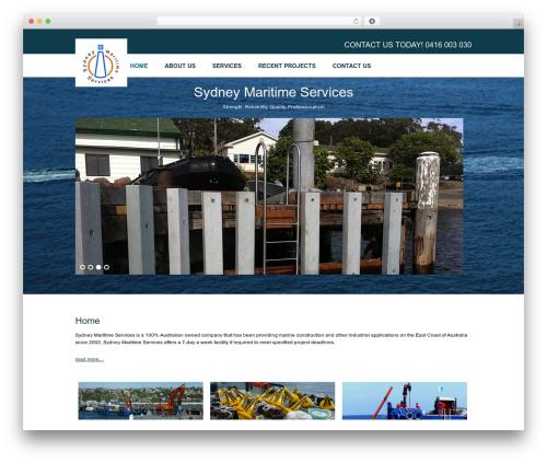 WordPress template Smart Theme - sydneymaritimeservices.com.au