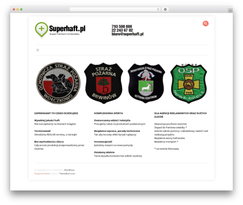 WordPress theme Shoppica - superhaft.pl