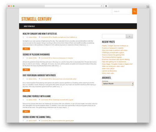 WP theme Koenda - stemcellcentury.com