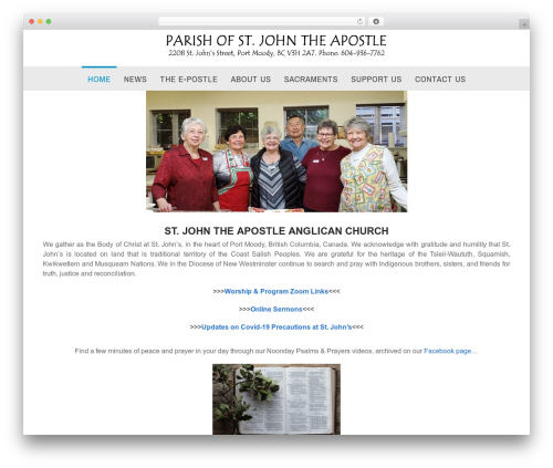 Best WordPress theme Church Suite - stja.ca